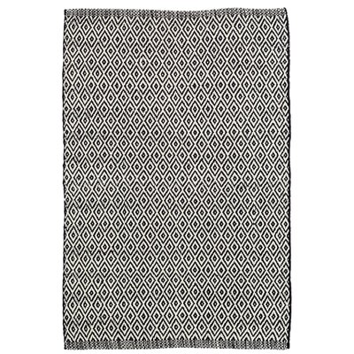 Crystal Black/White Indoor/Outdoor Area Rug Rug Size: Runner 26 x 8
