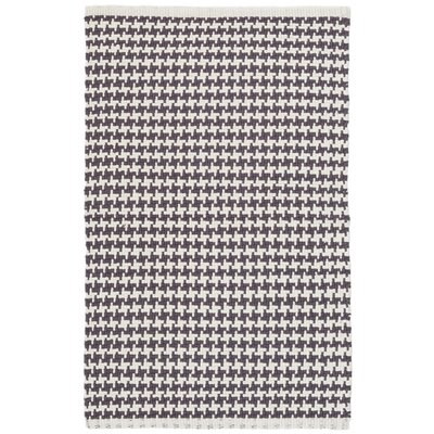 Checks Gray Area Rug Rug Size: 4 x 6