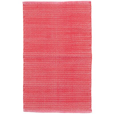 C3 Herringbone Red Indoor/Outdoor Area Rug Rug Size: 5 x 8