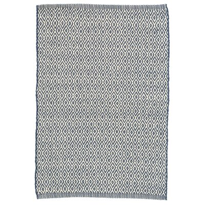 Crystal Blue/White Indoor/Outdoor Area Rug Rug Size: Runner 26 x 8