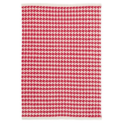 Checks Red/White Indoor/Outdoor Area Rug Rug Size: Runner 26 x 8
