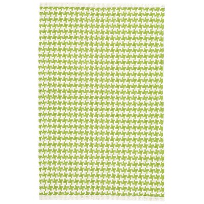 Checks Green/White Area Rug Rug Size: 4 x 6
