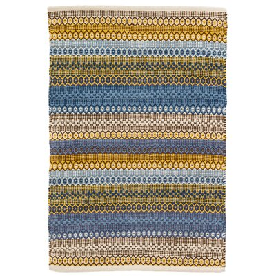 Gypsy Blue/Yellow Area Rug Rug Size: 4 x 6