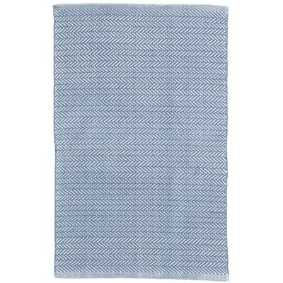 Herringbone Denim Blue Indoor/Outdoor Area Rug Rug Size: Runner 26 x 12