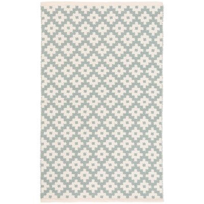 Samode Blue/White Indoor/Outdoor Area Rug Rug Size: 6 x 9