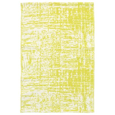 Drybrush Yellow/White Area Rug Rug Size: Runner 26 x 12
