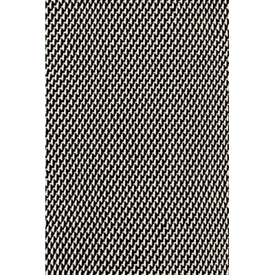 Two-Tone Rope Hand-Woven Black/White Indoor/Outdoor Area Rug