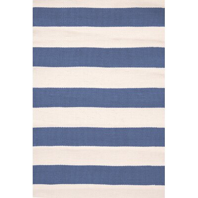 Catamaran Hand-Woven Blue Indoor/Outdoor Area Rug