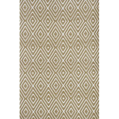 Diamond Hand-Woven Brown Indoor/Outdoor Area Rug