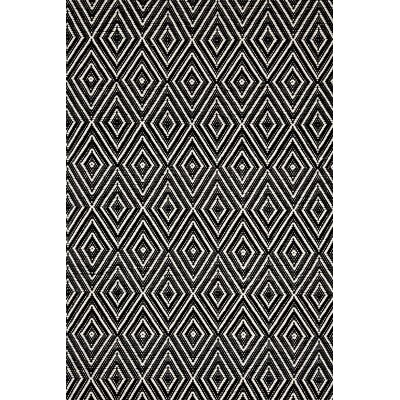 Hand-Woven Black Indoor/Outdoor Area Rug Rug Size: Runner 26 x 8