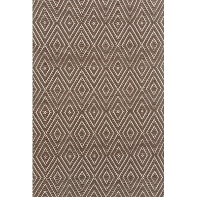 Diamond Hand Woven Brown Indoor/Outdoor Area Rug
