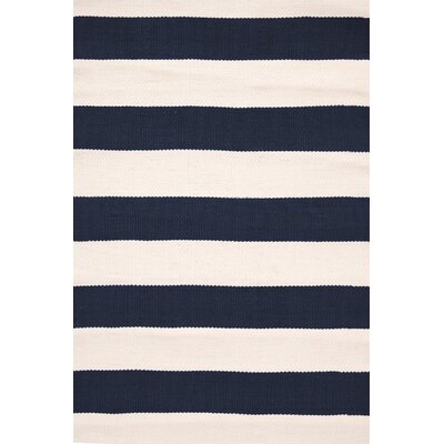 Catamaran Hand-Woven Blue/White Indoor/Outdoor Area Rug