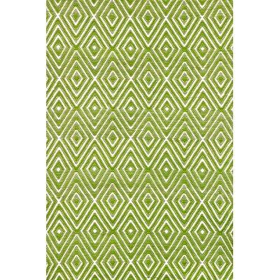 Diamond Hand Woven Green Indoor/Outdoor Area Rug