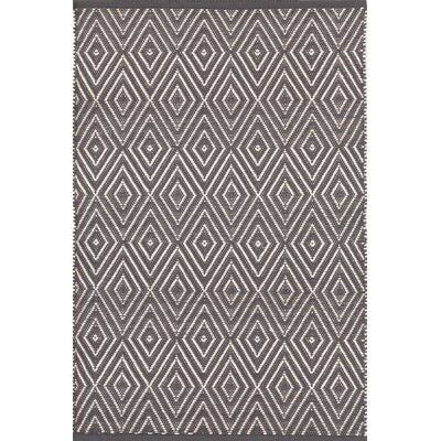 Diamond Hand-Woven Gray Indoor/Outdoor Area Rug