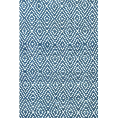 Diamond Hand Woven Blue Indoor/Outdoor Area Rug