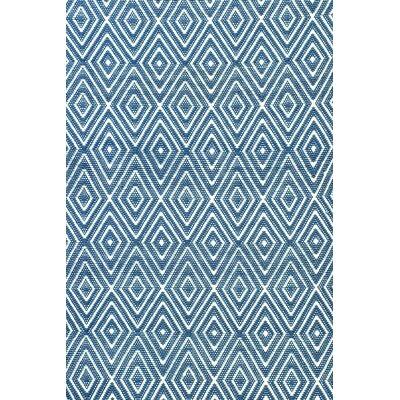 Diamond Hand Woven Blue Indoor/Outdoor Area Rug