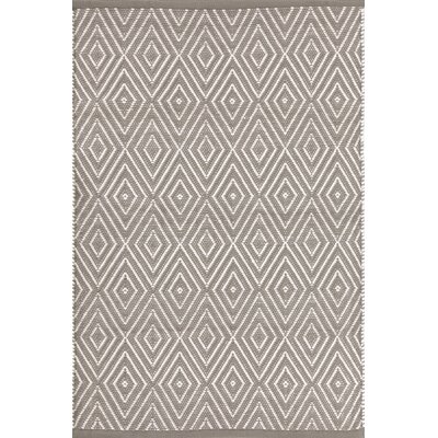 Diamond Hand-Woven Gray Indoor/Outdoor Area Rug