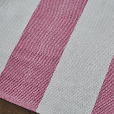 Hand Woven Pink Area Rug