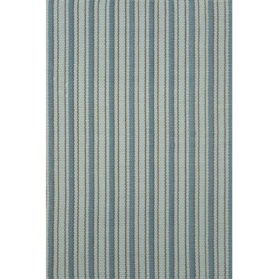 Woven Hooked Blue Indoor/Outdoor Area Rug Rug Size: 6 x 9