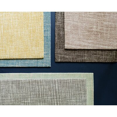 Crosshatch Micro Hand Hooked Wool Tan Area Rug Rug Size: Runner 25 x 8
