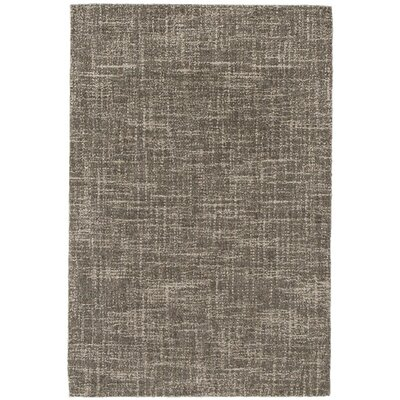 Crosshatch Mirco Hooked Gray Area Rug