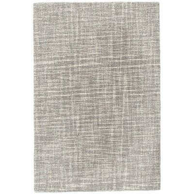 Crosshatch Micro Hand Hooked Wool Gray Area Rug Rug Size: Runner 25 x 8