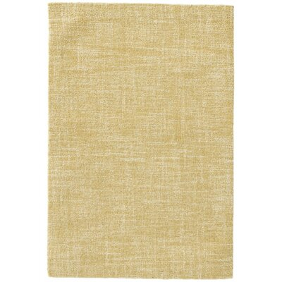 Crosshatch Micro Hooked Gold Area Rug