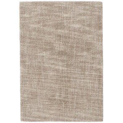 Crosshatch Micro Hand Hooked Wool Tan Area Rug Rug Size: 10 x 14