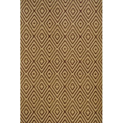 Diamond Hand-Woven Brown/Khaki Indoor/Outdoor Area Rug
