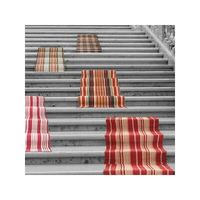 Hand Woven Red Area Rug Rug Size: Runner 26 x 8