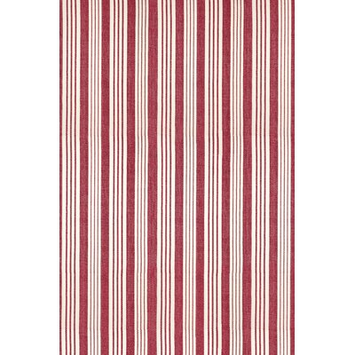 Flat Woven Red/White Area Rug Rug Size: 2 x 3