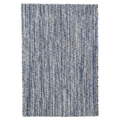 Bella Hand Woven Wool Navy Area Rug Rug Size: 5 x 8