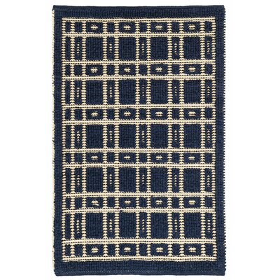 Oliver Hand Woven Wool Navy Area Rug Rug Size: 10 x 14
