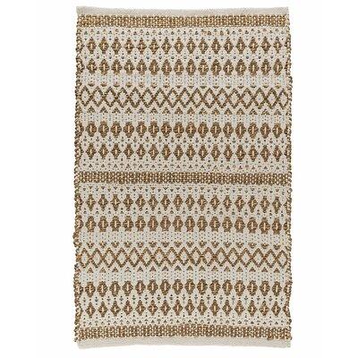 La Palma Hand Woven Cream Area Rug Rug Size: 5 x 8