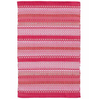 Fiesta Stripe Fuchsia/Red Indoor/Outdoor Area Rug Sample