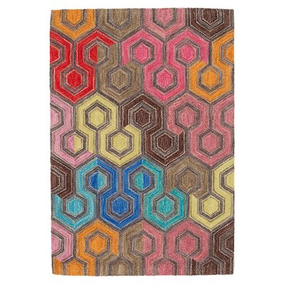 Geodesic Micro Hooked Wool Area Rug Sample
