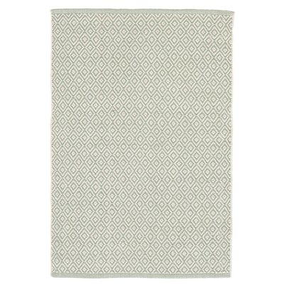 Lattice Ocean Woven Cotton Area Rug Sample