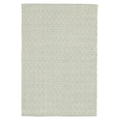 Lattice Cotton Ocean Area Rug Rug Size: 9 x 12