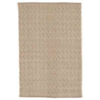 Lattice Stone Woven Cotton Area Rug Sample
