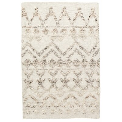 Venus Hand Knotted Wool Beige/Brown Area Rug Rug Size: 5 x 8