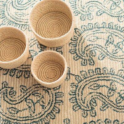 Lurina Paisley Wool Tufted Area Rug Sample