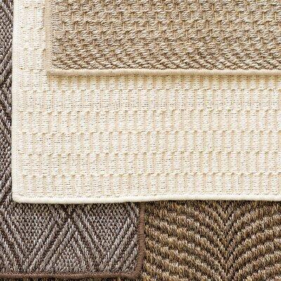 Diamond Sand Woven Sisal Area Rug Sample