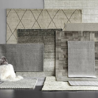Matrix Gray Wool Tufted Area Rug Sample