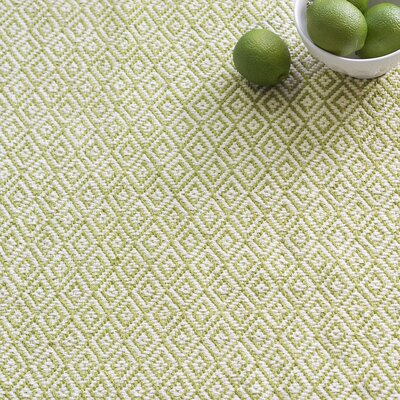 Lattice Citrus Woven Cotton Area Rug Sample