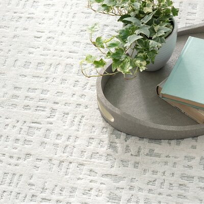 Juno White/Sky Woven Area Rug Sample
