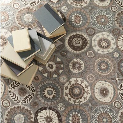 Merry Go Round Neutral Hand Hooked Wool Brown/Cream Area Rug Rug Size: 8 x 10
