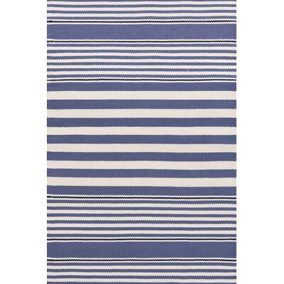Indoor/Outdoor Blue/White Area Rug Rug Size: Rectangle 86 x 11