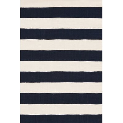 Catamaran Hand Woven White/Blue Indoor/Outdoor Area Rug Rug Size: 2 x 3