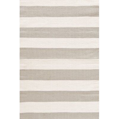 Catamaran Hand Woven Platinum/Ivory Indoor/Outdoor Area Rug Rug Size: 4 x 6