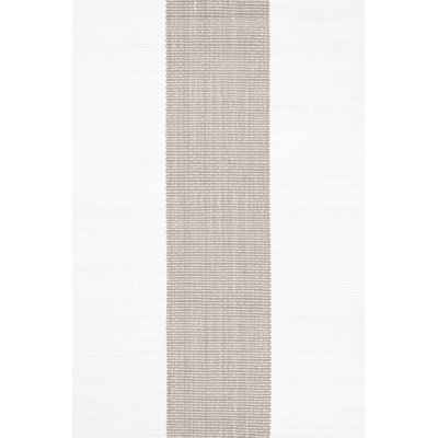 Lakehouse Hand Woven Grey/White Indoor/Outdoor Rug Rug Size: Runner 26 x 8